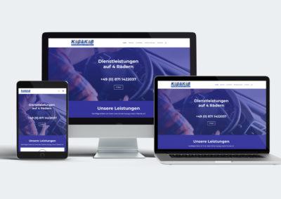 Website, Visitenkarte und Anzeige für den Kurierdienst Koß&Koß in Landshut